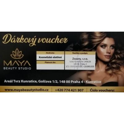 Dárkový voucher na kosmetické ošetření 1.250 Kč