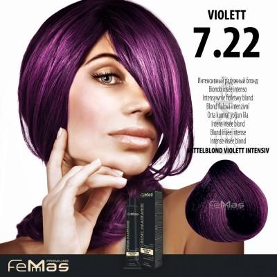 Barva na vlasy Blond fialová intenzivní 7.22