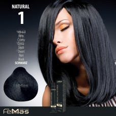 Barva na vlasy Femmas Černá 1