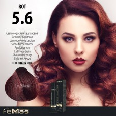 Barva na vlasy Světle hnědá červená 5.6