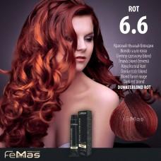 Barva na vlasy Tmavá blond červená 6.6