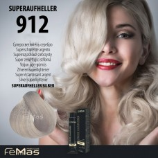 Barva na vlasy Super zesvětlující stříbrná 912