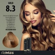 Barva na vlasy Světle blond zlatá 8.3