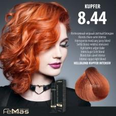 Barva na vlasy Světlá blond měděná intenzivní 8.44