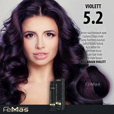 Barva na vlasy Světle hnědá fialová 5.2