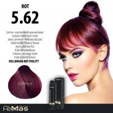 Barva na vlasy Světle hnědá červená fialová 5.62