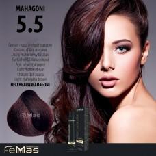 Barva na vlasy Světle hnědá mahagonová 5.5