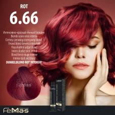 Barva na vlasy Tmavá blond červená intenzivní 6.66