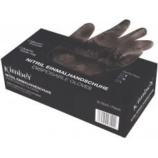 Nitrilové rukavice černé / S, L