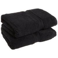 Bavlněný ručník černý / 50x90 cm