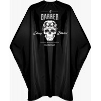 Kadeřnická pláštěnka Barber Skull / XXL